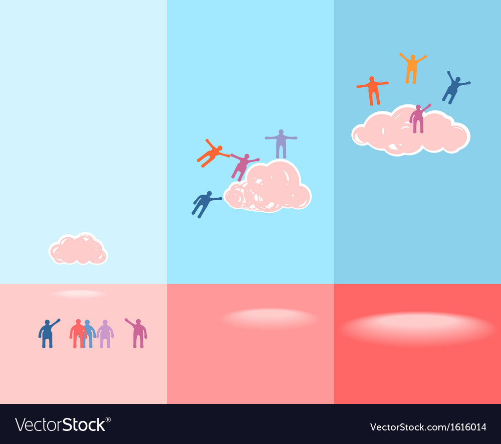 People and clouds success concept eps 10 vector | Price: 1 Credit (USD $1)
