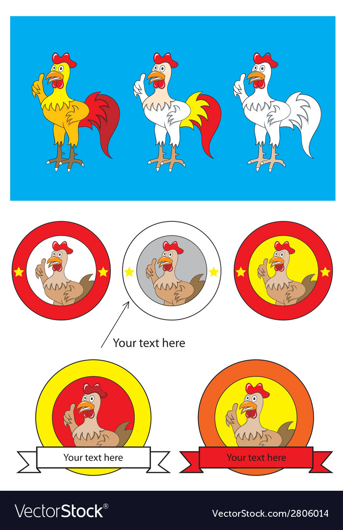 Rooster cartoon and logo vector   Price: 1 Credit (USD $1)