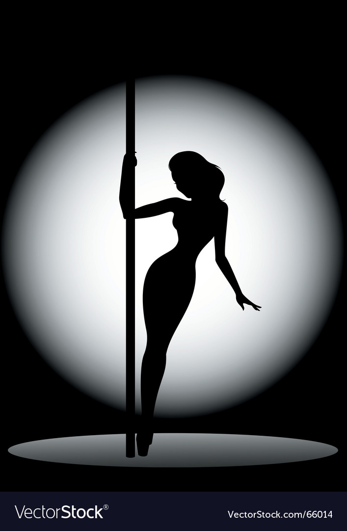 Silhouette of dancer vector | Price: 1 Credit (USD $1)