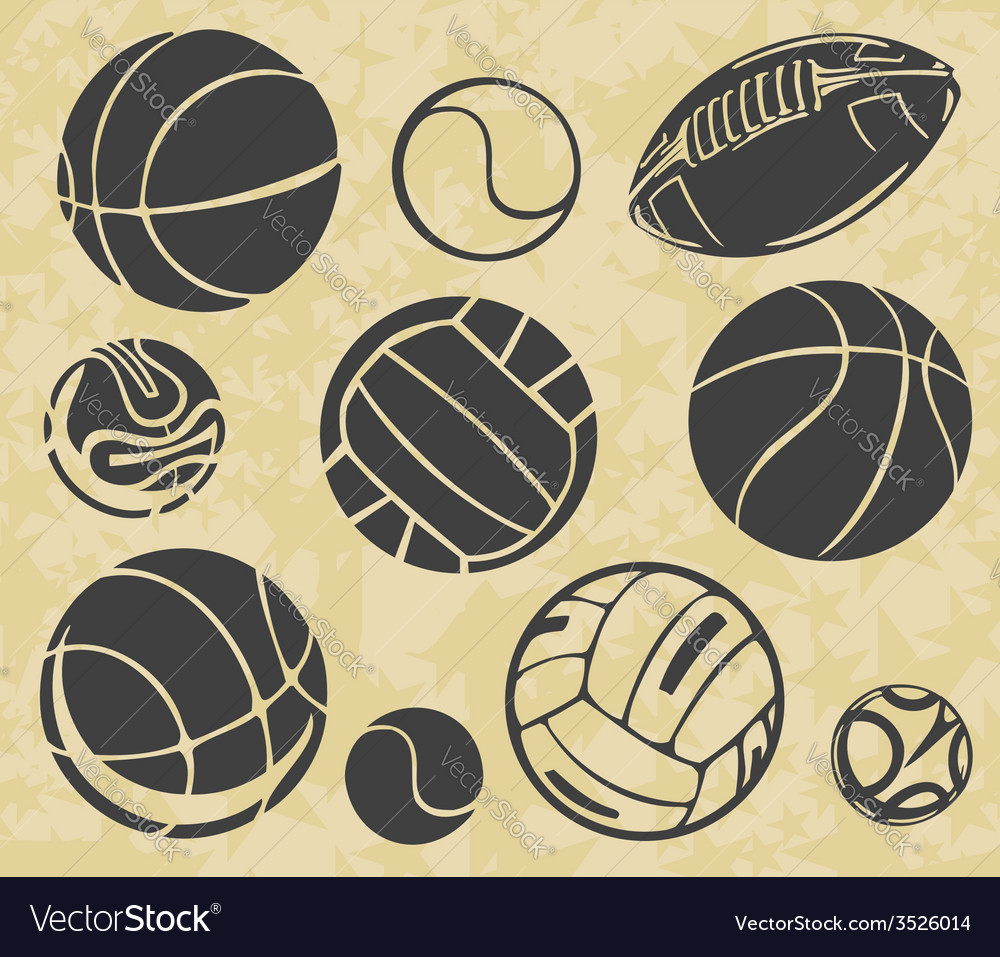 Sports balls - set vector | Price: 1 Credit (USD $1)