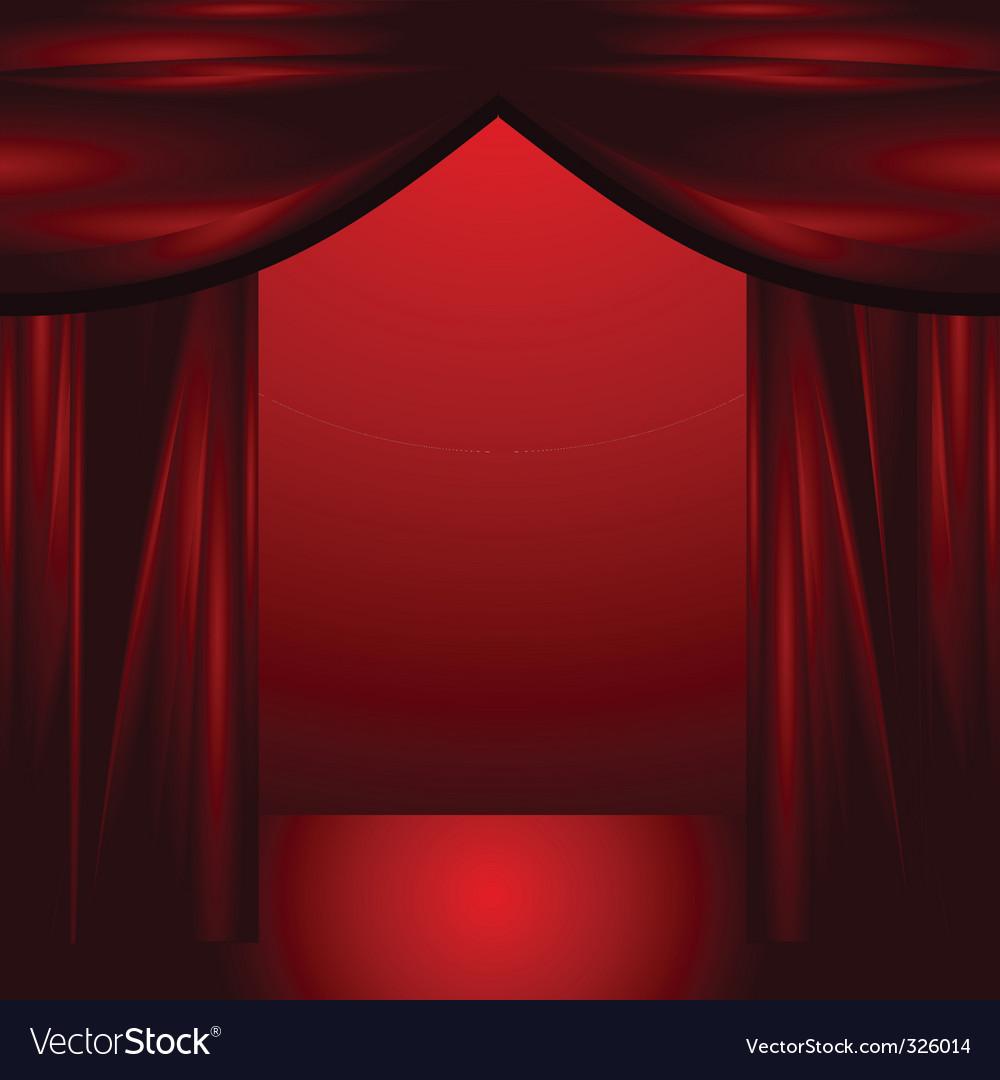 Theatre curtains vector   Price: 1 Credit (USD $1)