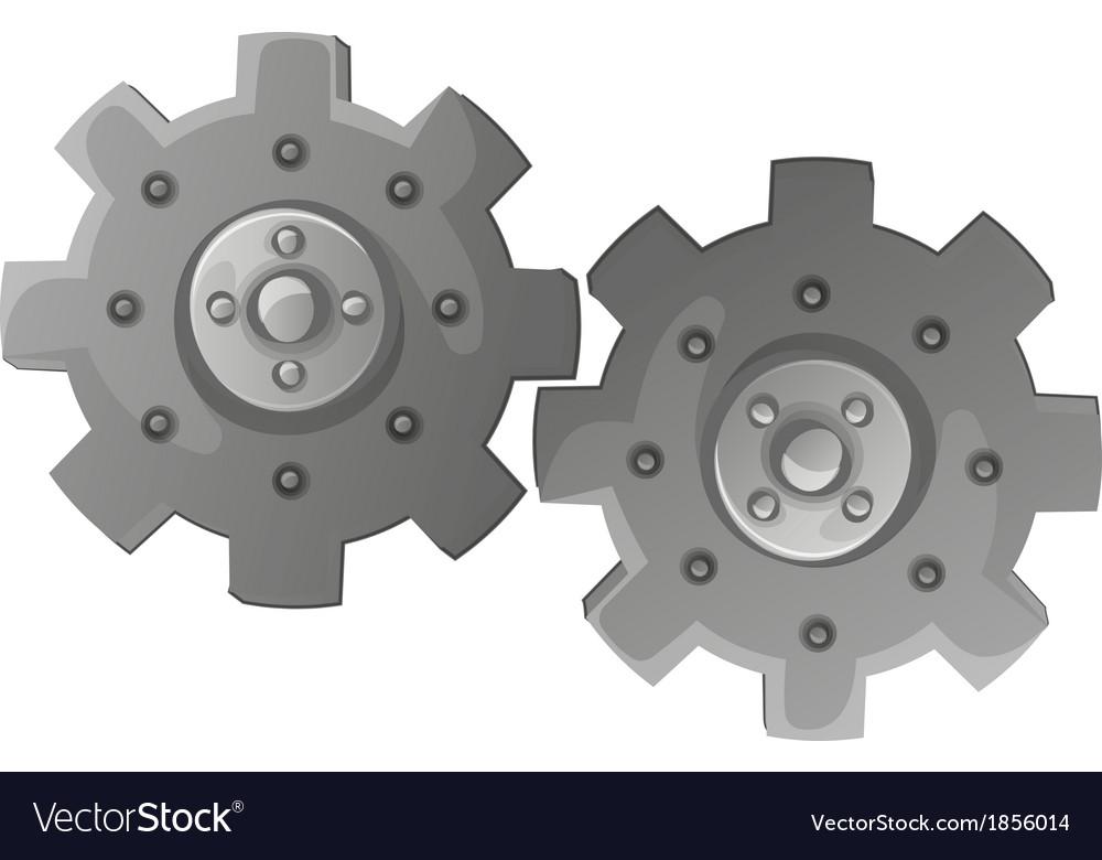 Two cogwheels vector | Price: 1 Credit (USD $1)