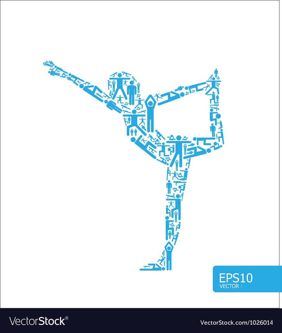 Yoga concept vector | Price: 1 Credit (USD $1)