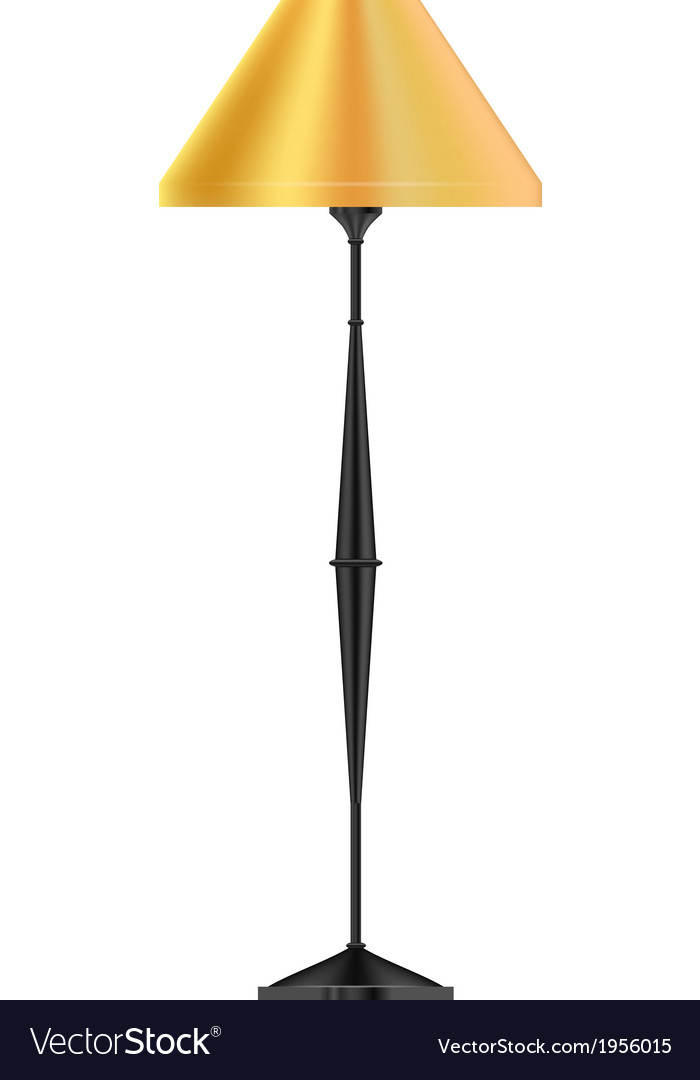 A yellow floor lamp vector | Price: 1 Credit (USD $1)