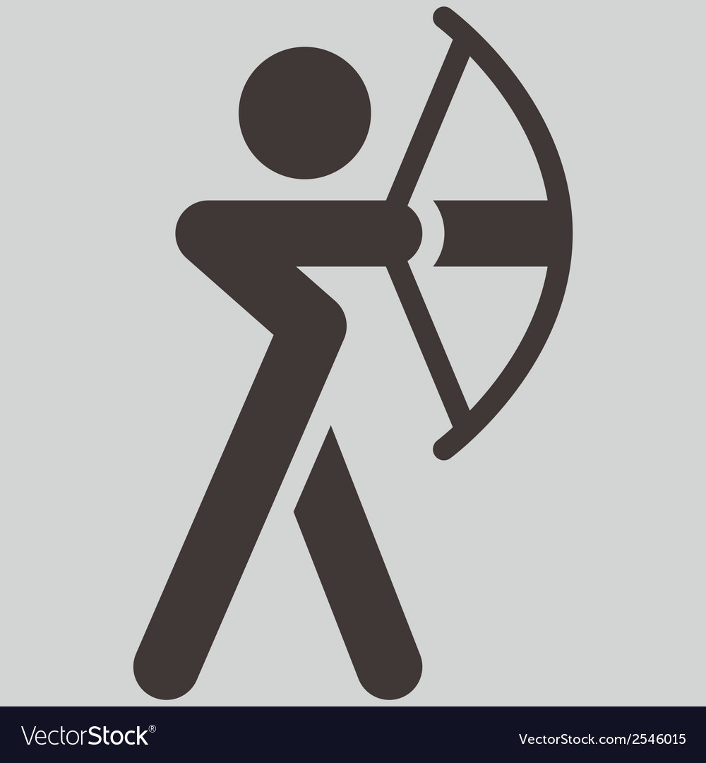 Archery icon vector | Price: 1 Credit (USD $1)