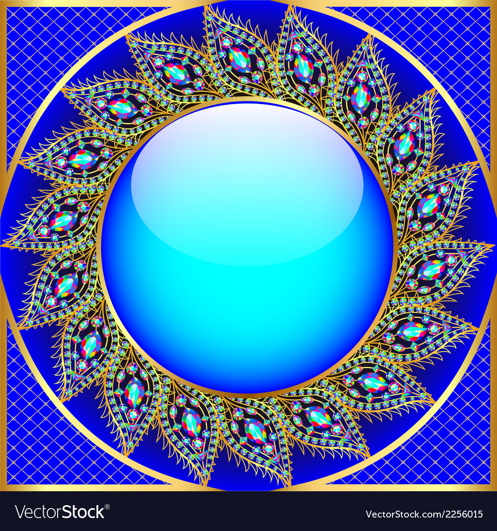 Background round frame with the ornament vector | Price: 1 Credit (USD $1)