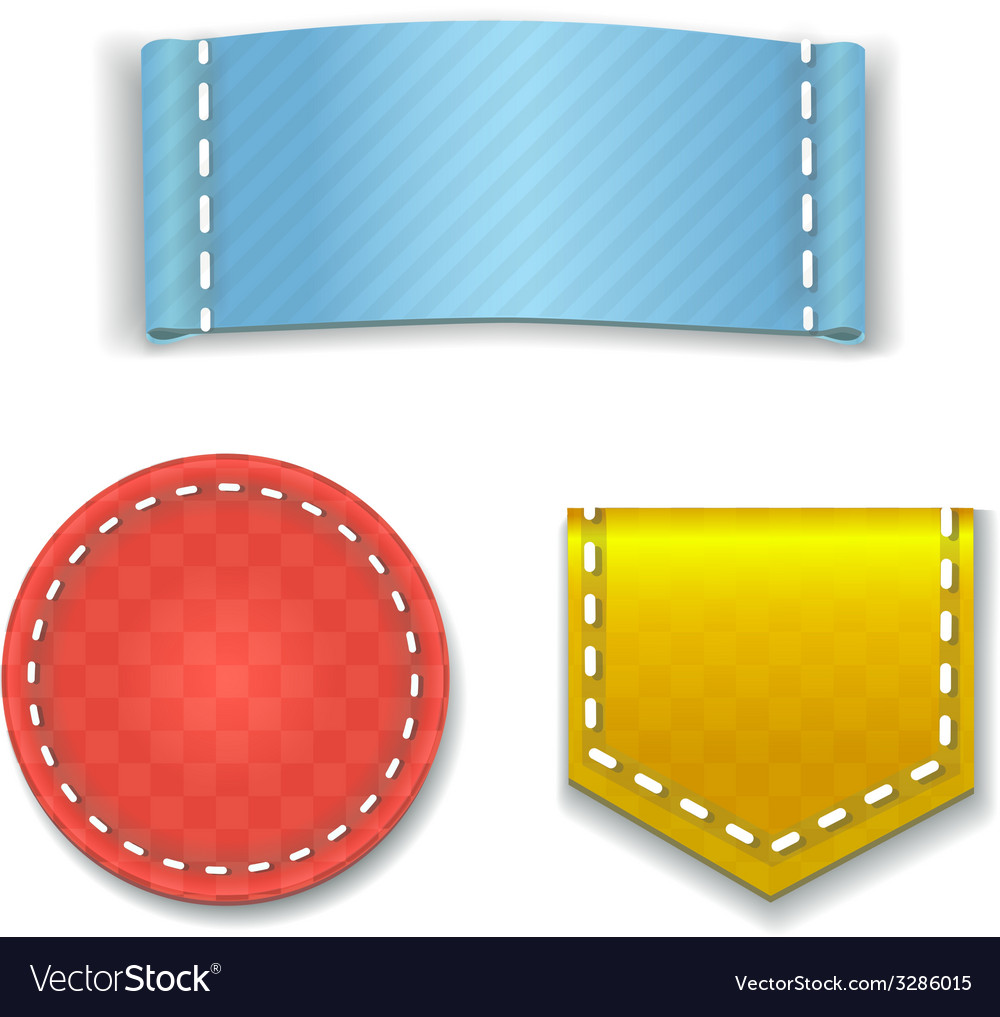 Collection of colorful blank labels or badges with vector | Price: 1 Credit (USD $1)