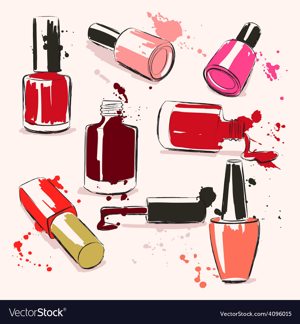 Hand drawing with nail polish vector | Price: 1 Credit (USD $1)