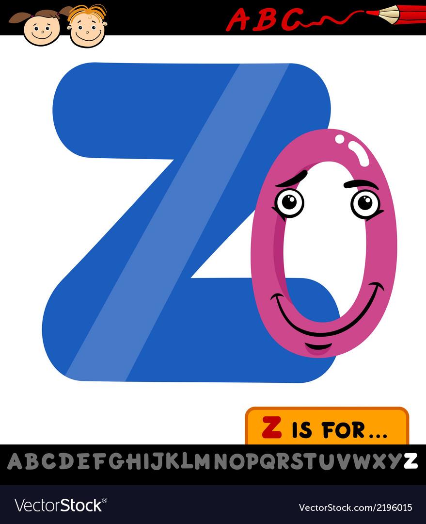 Letter z with zero cartoon vector | Price: 1 Credit (USD $1)