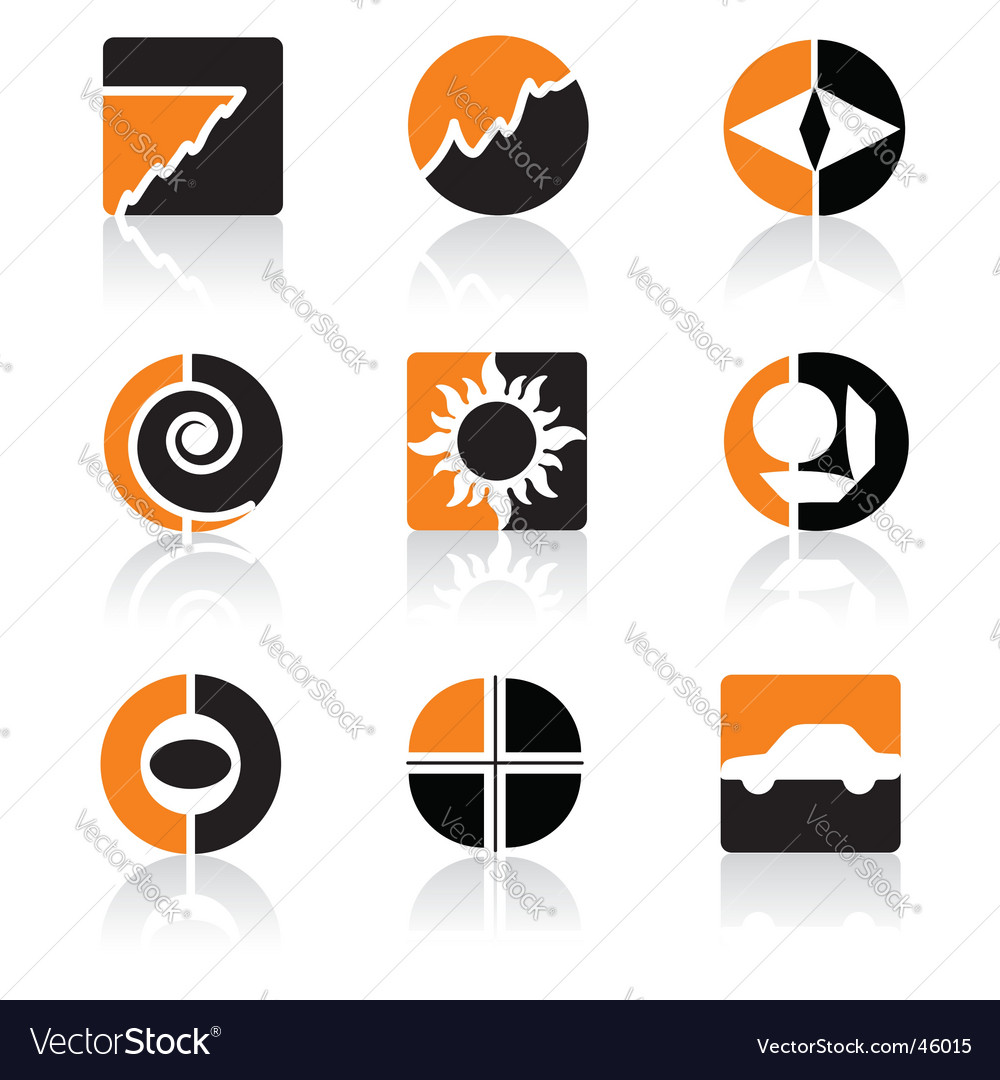 Orange icons vector | Price:  Credit (USD $)