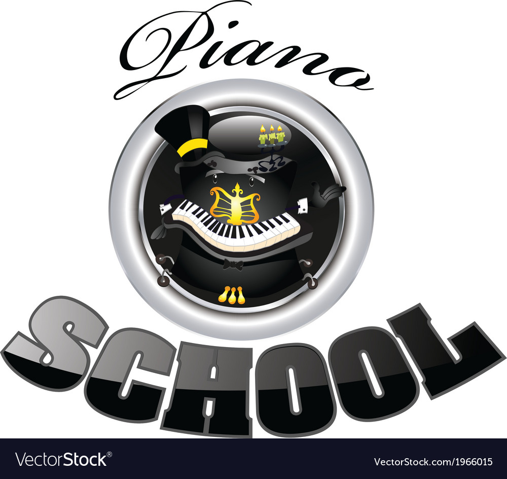 Piano school 1 vector | Price: 1 Credit (USD $1)