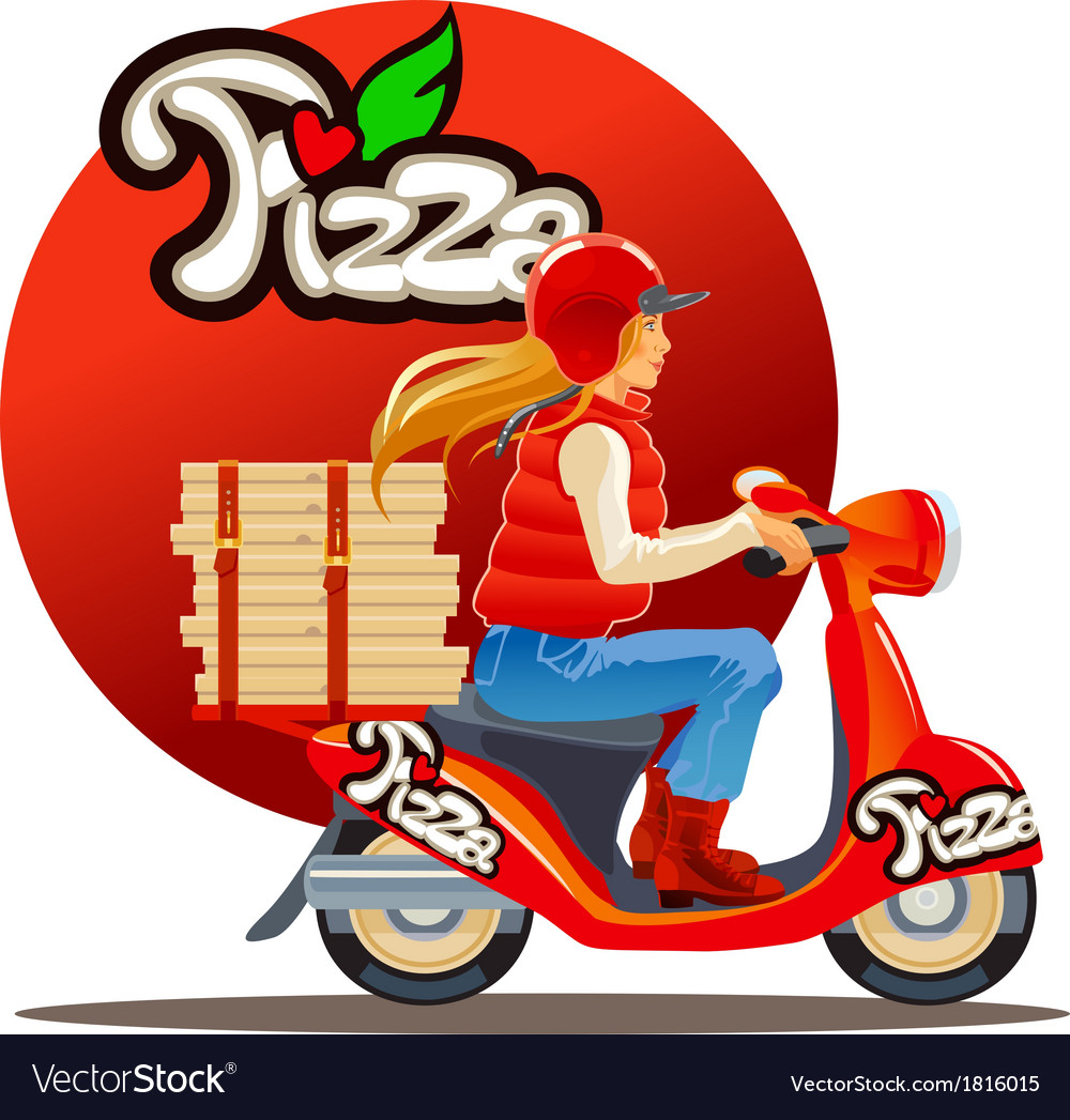 Pizza delivery9 vector | Price: 1 Credit (USD $1)