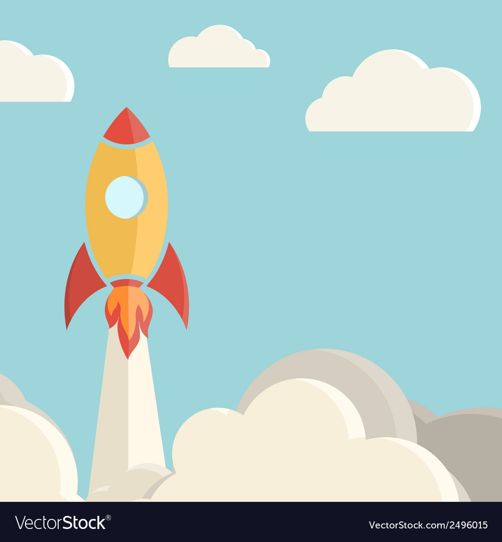 Rocket launch background vector | Price: 1 Credit (USD $1)
