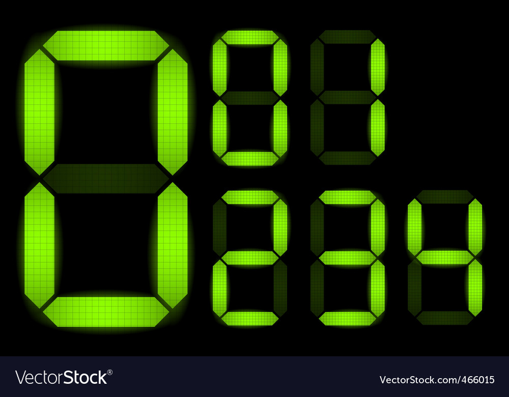 Set of digital numbers vector | Price: 1 Credit (USD $1)