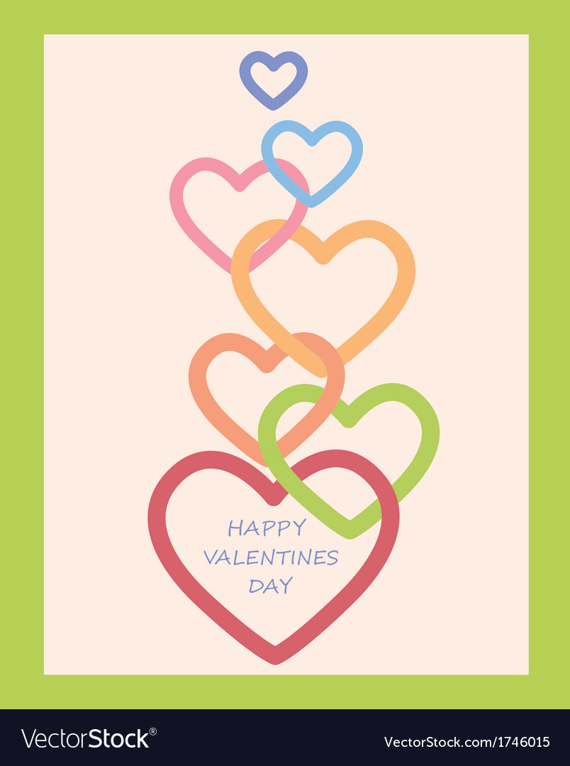 Valentines day decoration with hearts vector | Price: 1 Credit (USD $1)