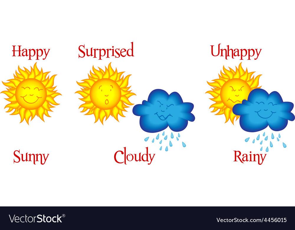 Weather cartoon strip vector | Price: 1 Credit (USD $1)