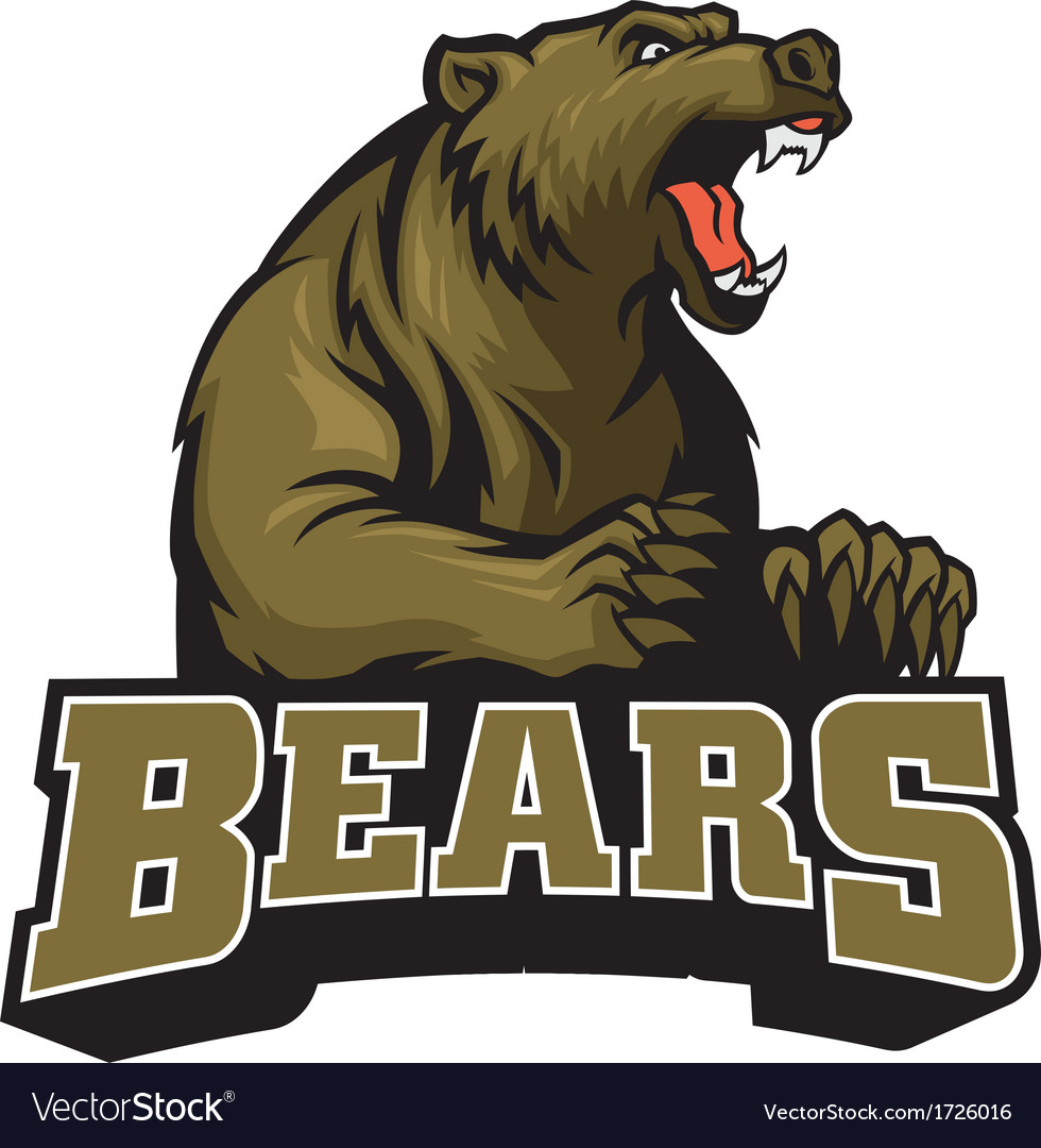 Big brown bear mascot vector   Price: 3 Credit (USD $3)