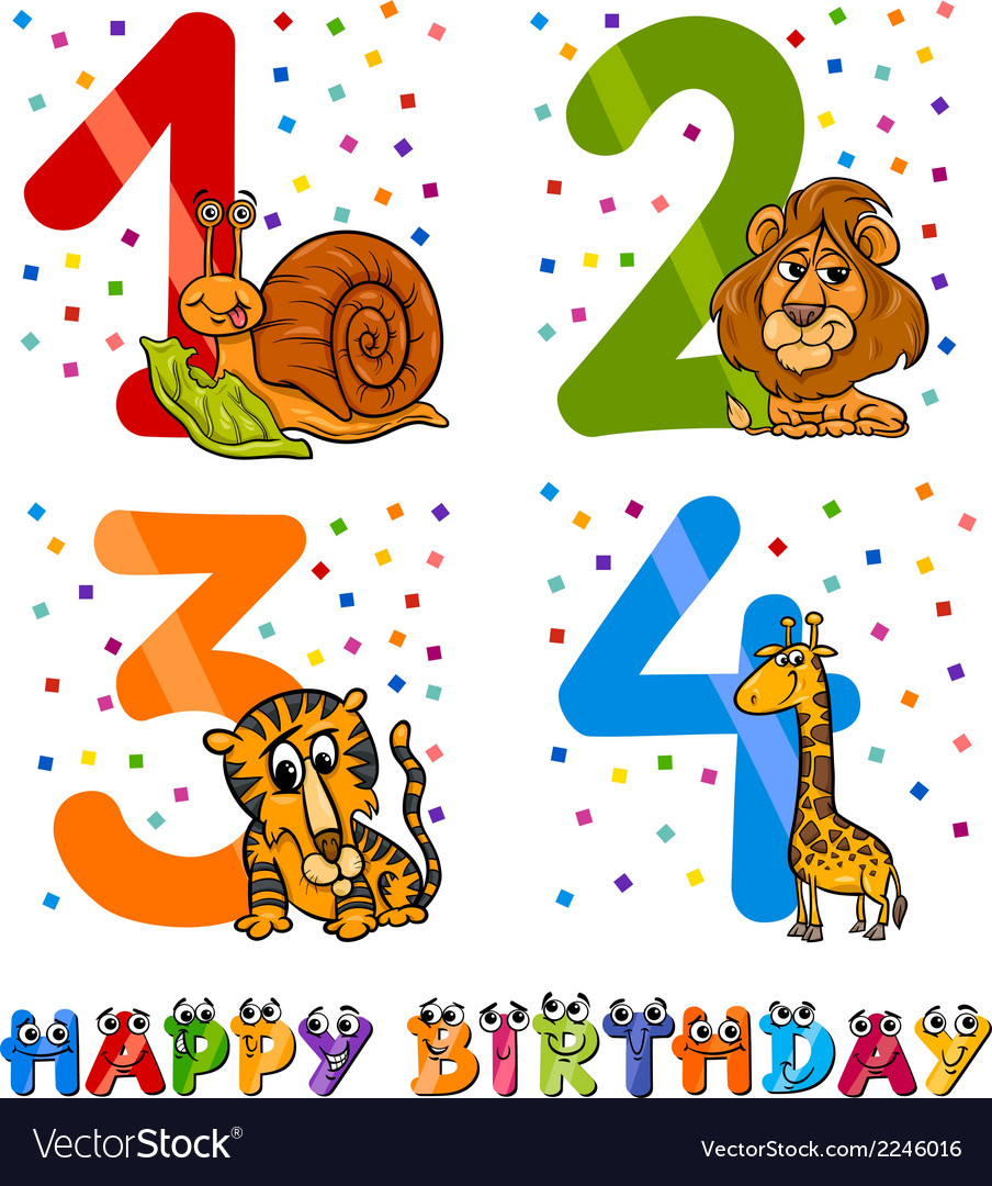 Birthday cartoon design for boy vector | Price: 1 Credit (USD $1)
