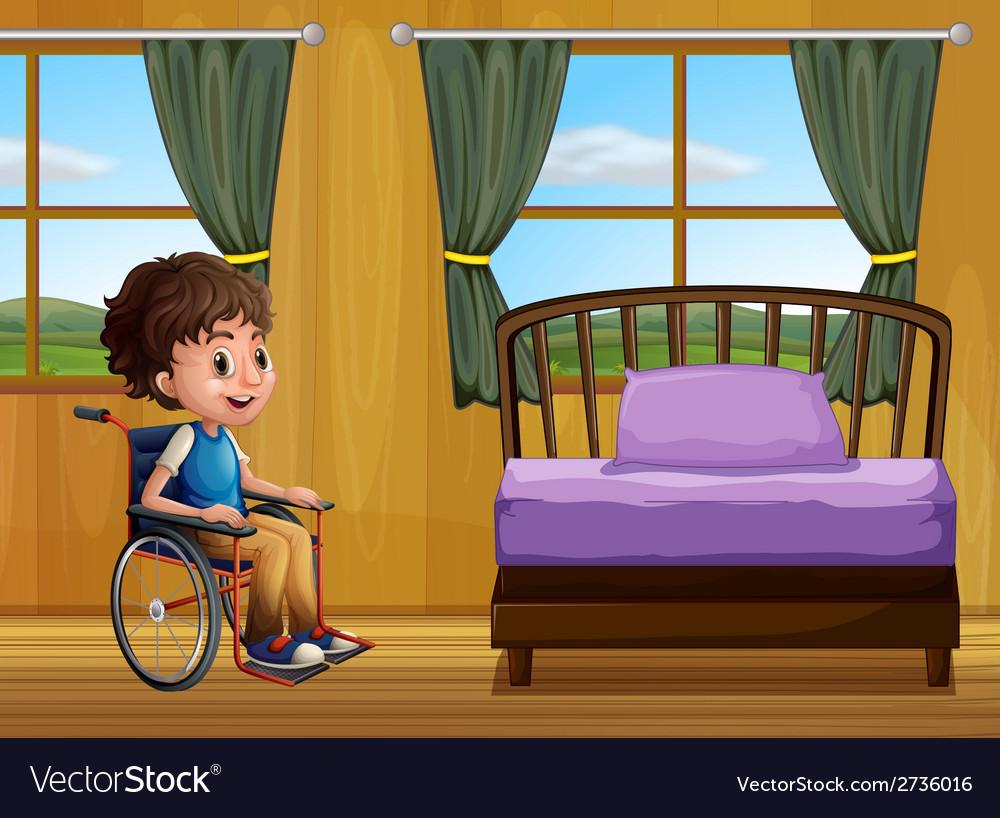 Boy and bedroom vector | Price: 1 Credit (USD $1)