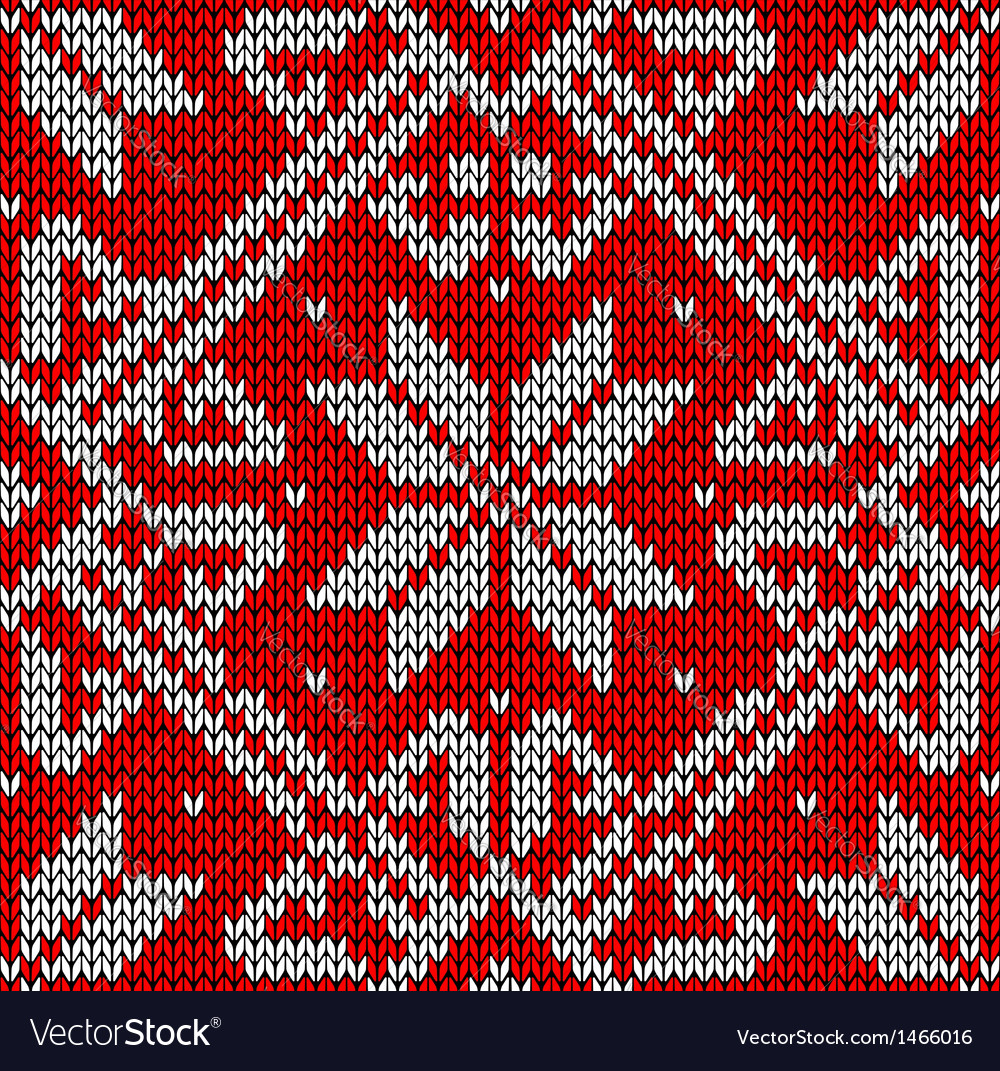 Christmas knitting pattern vector | Price: 1 Credit (USD $1)