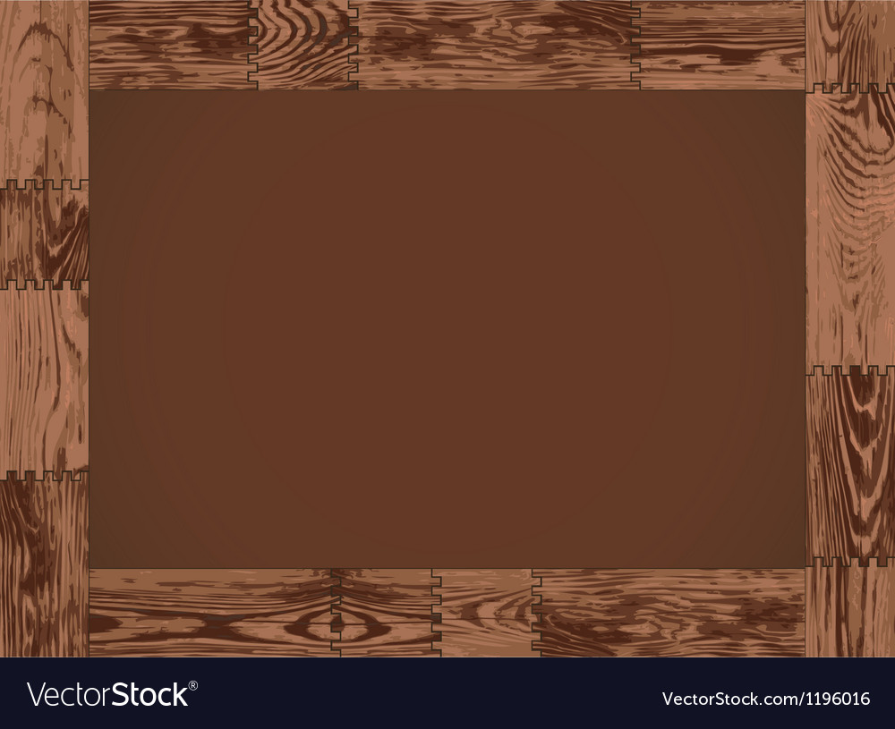 Dark wood border frame vector | Price: 1 Credit (USD $1)