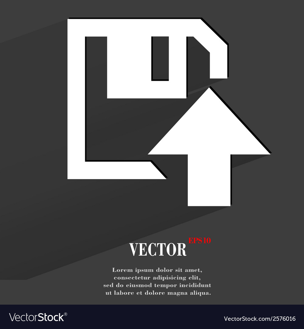 Floppy disk upload flat modern web button with vector | Price: 1 Credit (USD $1)