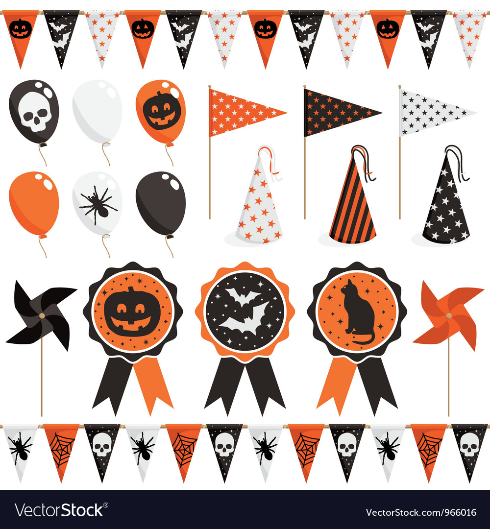 Halloween party pack vector | Price: 1 Credit (USD $1)