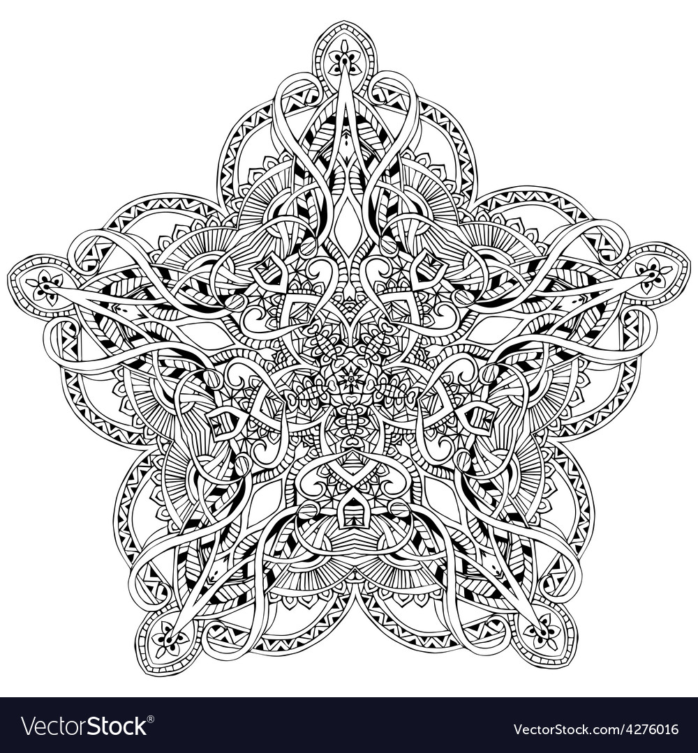 Ornament color card with mandala vector | Price: 1 Credit (USD $1)