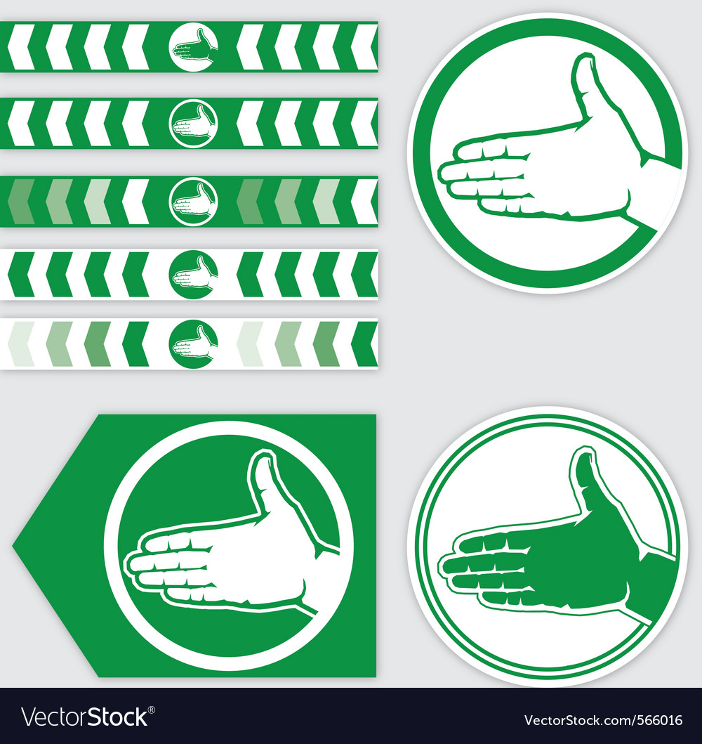 Palm sign vector | Price: 1 Credit (USD $1)