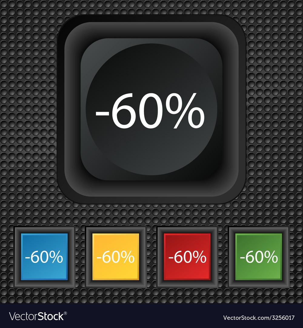 60 percent discount sign icon sale symbol special vector | Price: 1 Credit (USD $1)