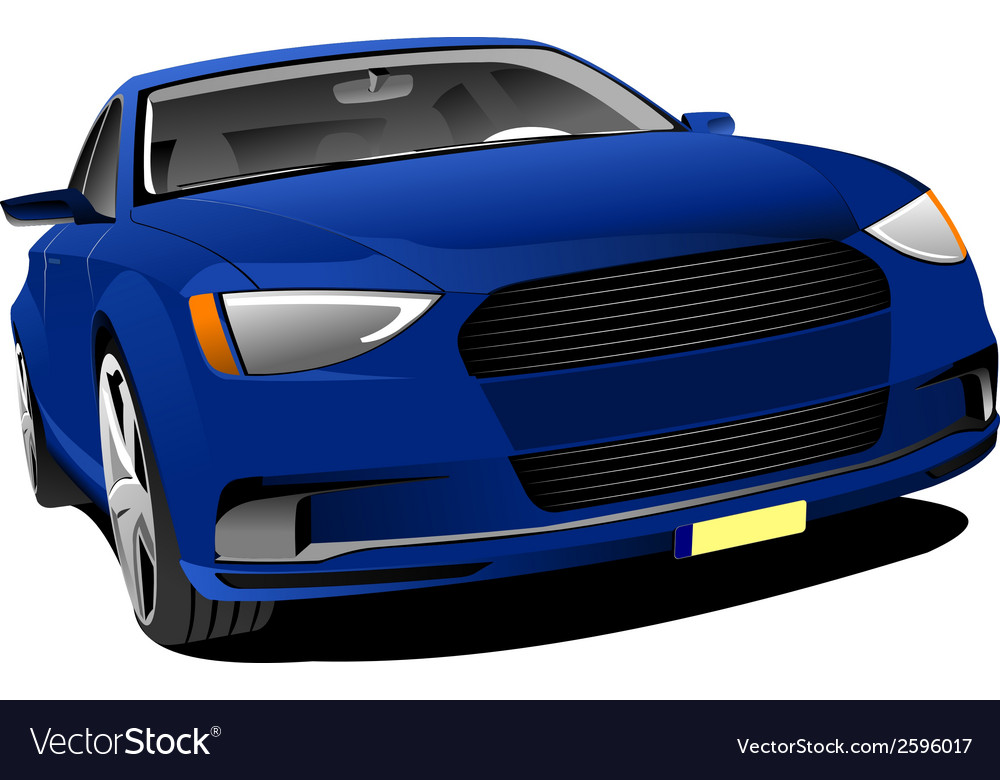 Al 0428 blue car vector | Price: 1 Credit (USD $1)