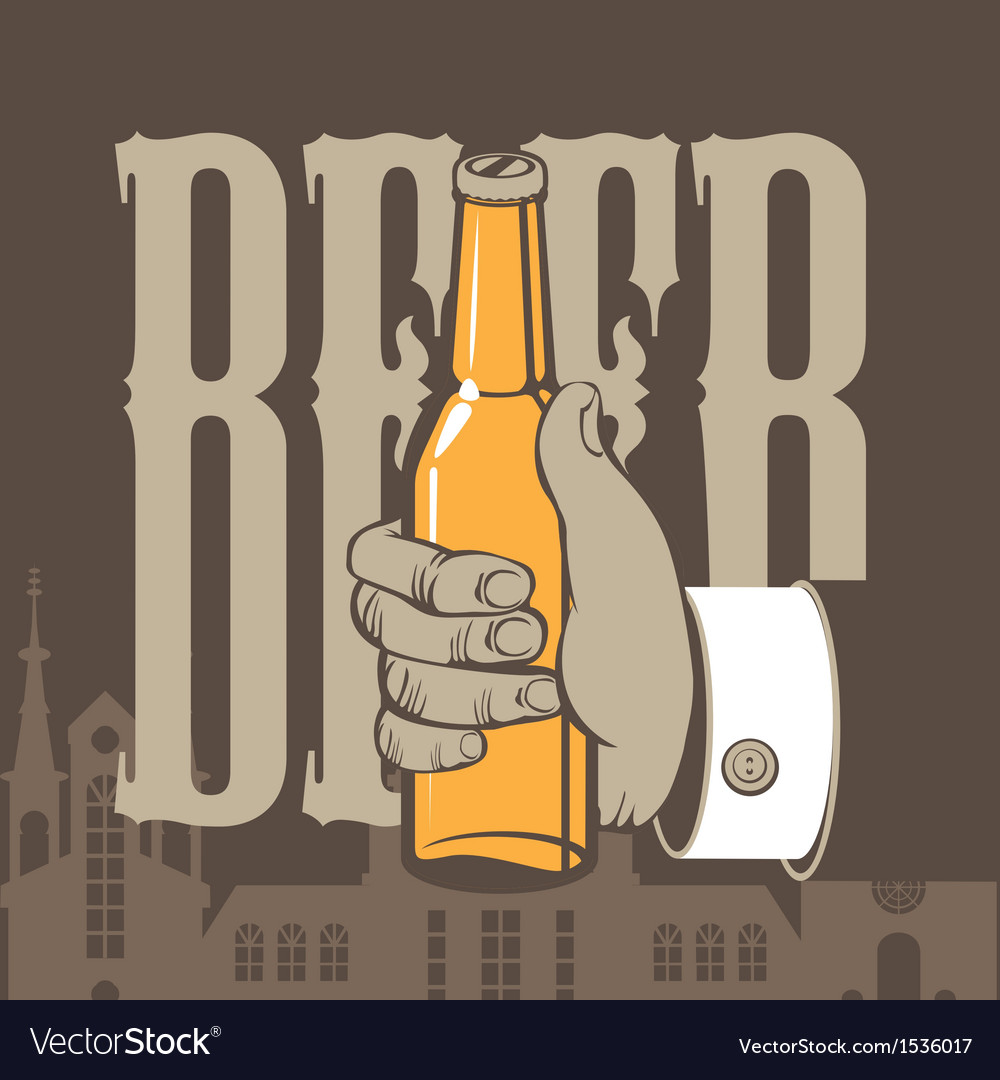 Bottle of beer vector | Price: 1 Credit (USD $1)