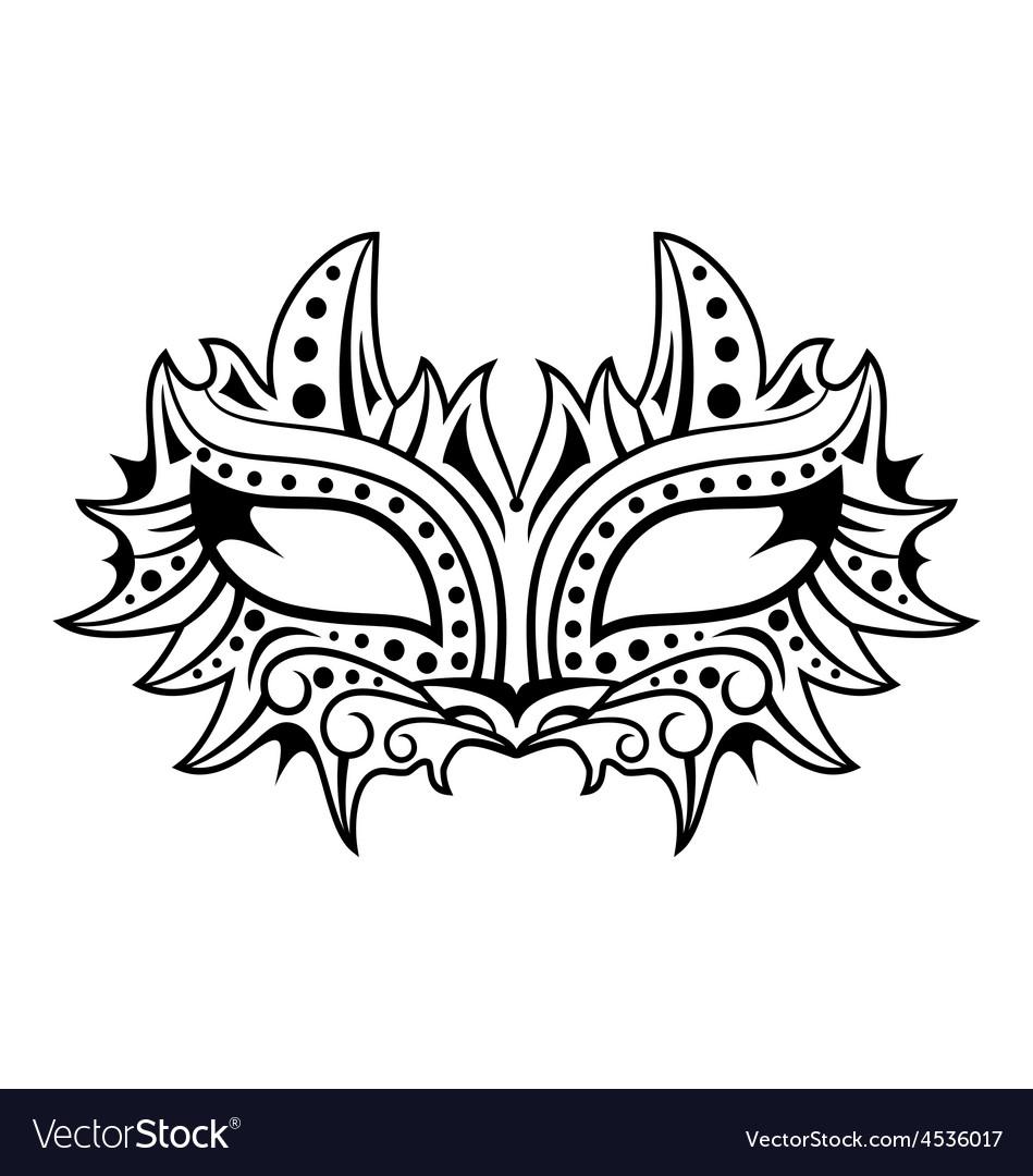 Cat mask vector | Price: 1 Credit (USD $1)