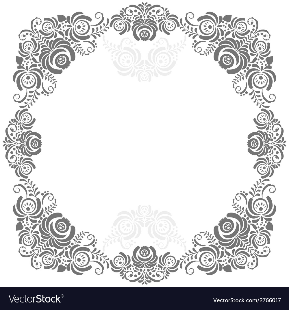 Grey and white vintage frame vector | Price: 1 Credit (USD $1)