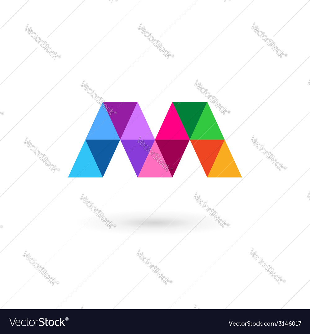 Letter m mosaic logo icon design template elements vector | Price: 1 Credit (USD $1)