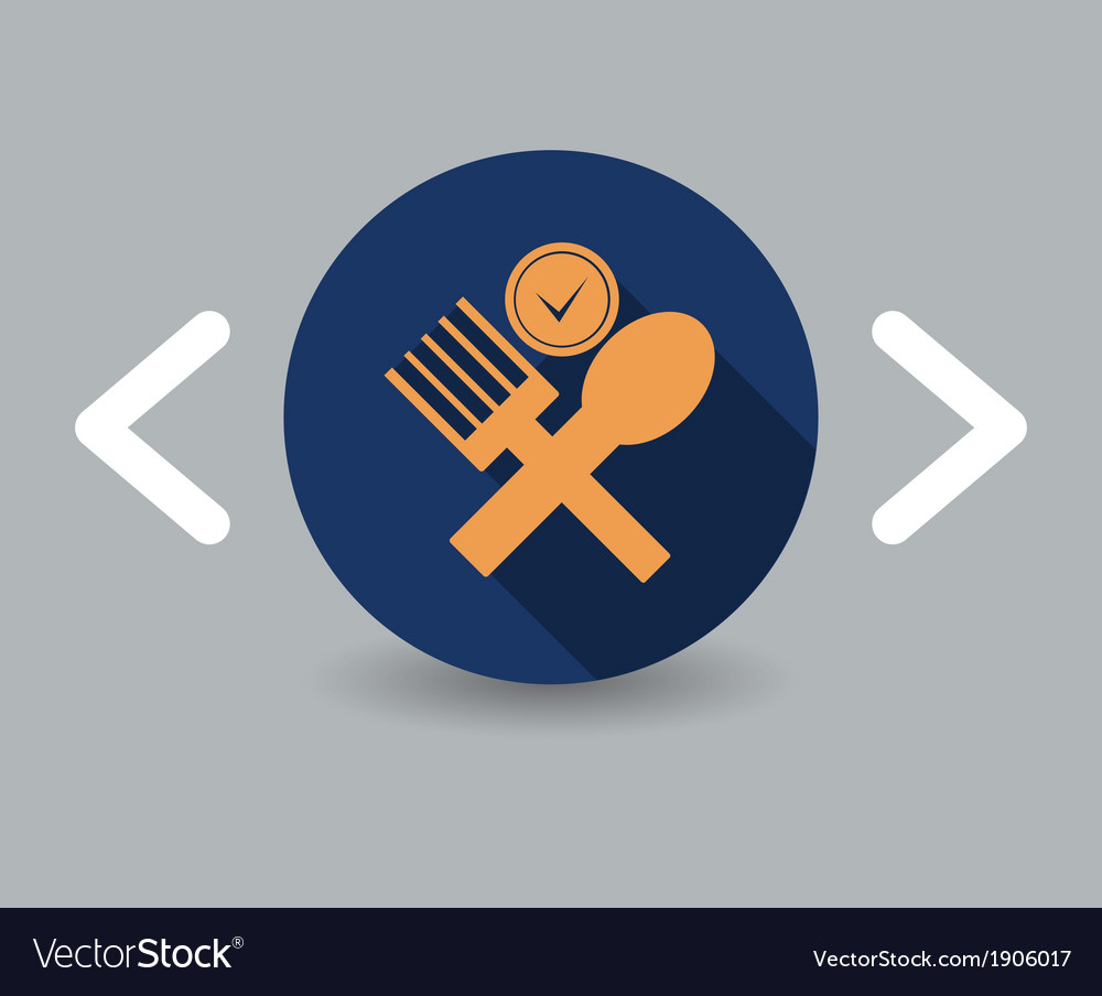 Lunch icon vector | Price: 1 Credit (USD $1)