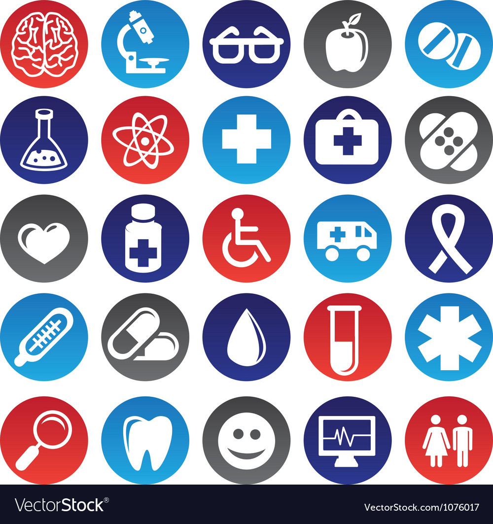 Medical icons and signs vector | Price: 1 Credit (USD $1)