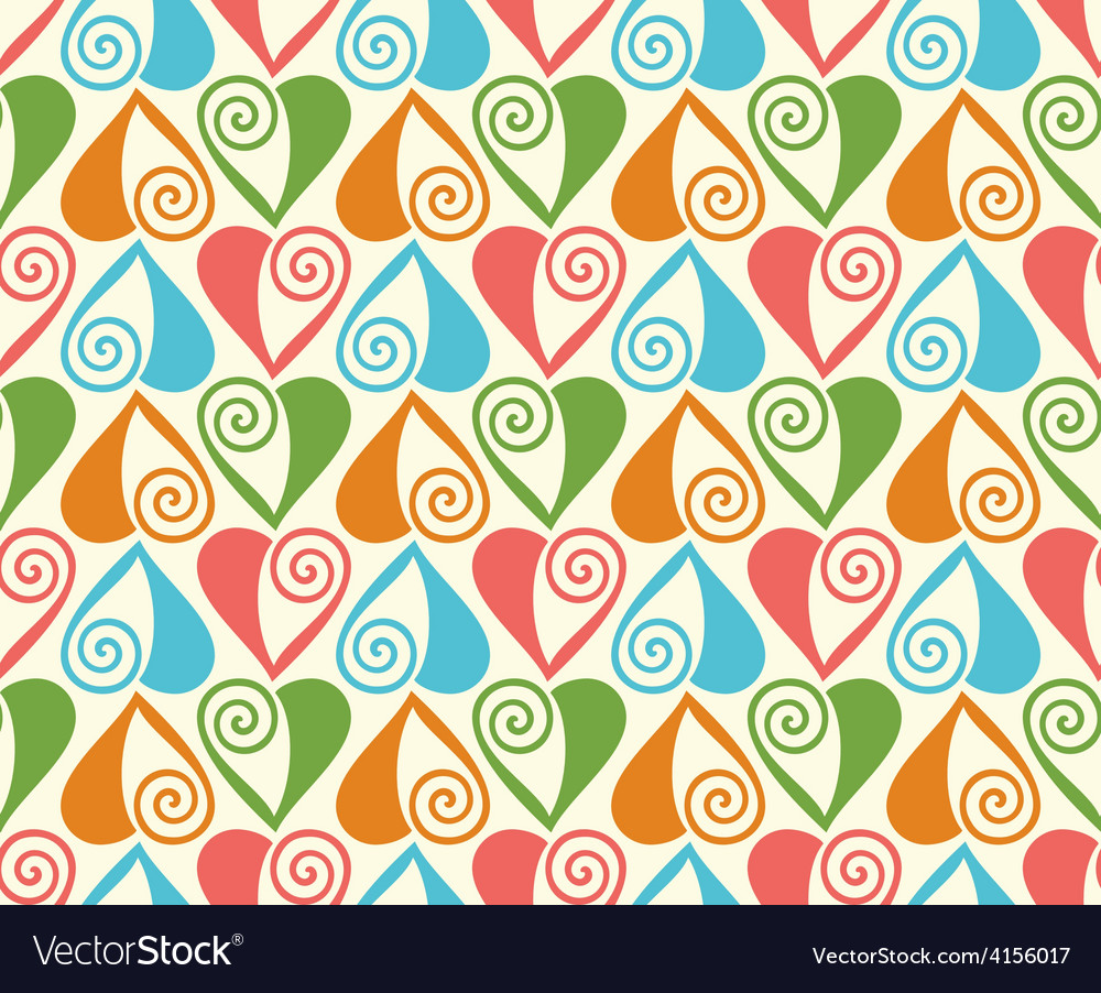 Seamless pattern with stylized hearts romantic vector | Price: 1 Credit (USD $1)