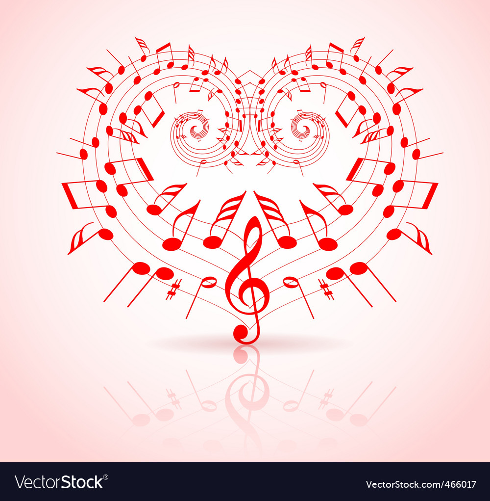 Valentines day music vector | Price: 1 Credit (USD $1)