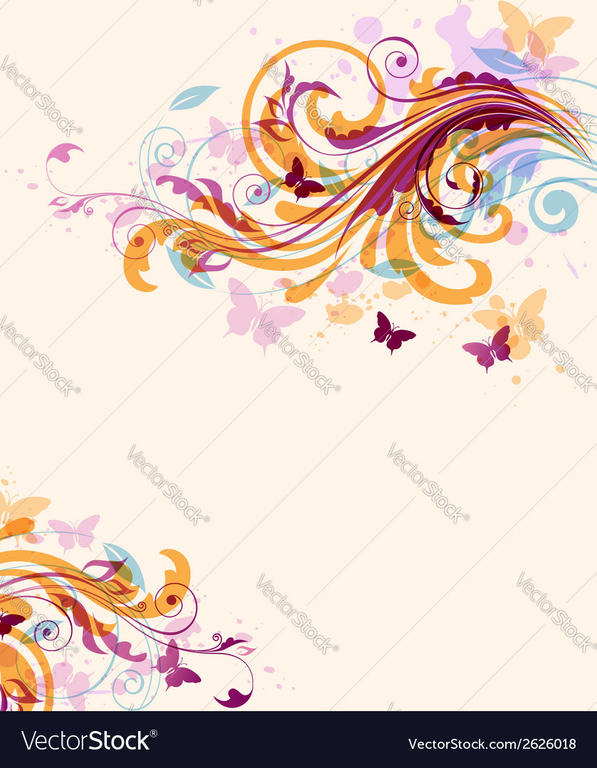 Abstract decorative floral background vector | Price: 1 Credit (USD $1)