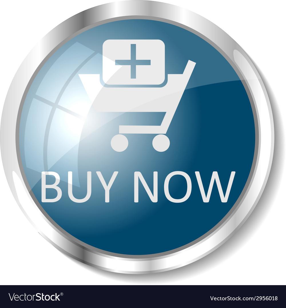 Blue web button vector | Price: 1 Credit (USD $1)