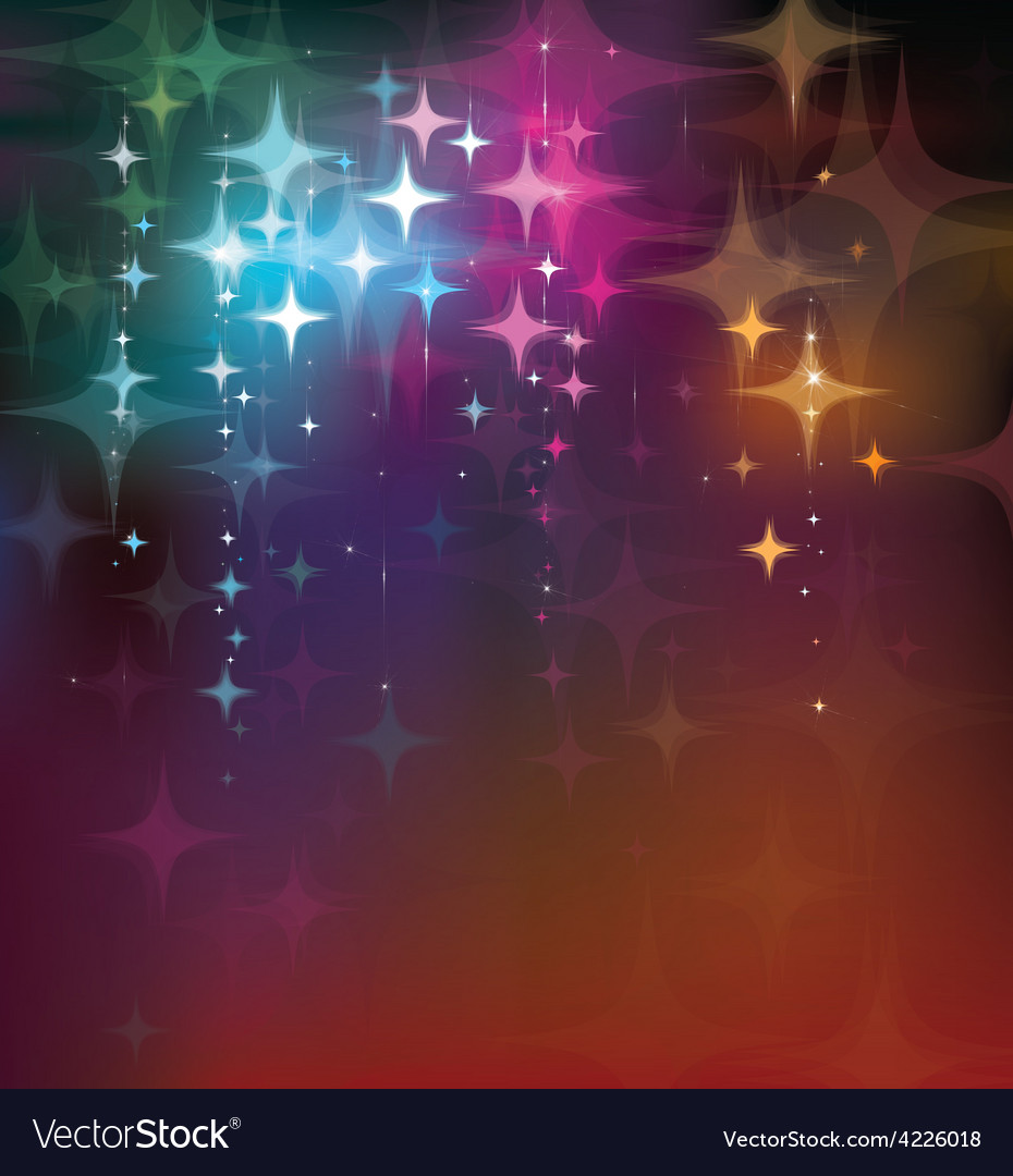 Colorful stars background vector | Price: 1 Credit (USD $1)