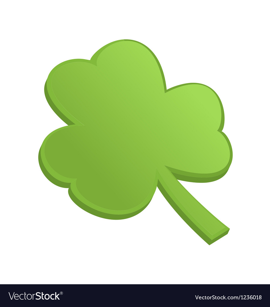 Green shamrock clover on st patrick day vector | Price: 1 Credit (USD $1)