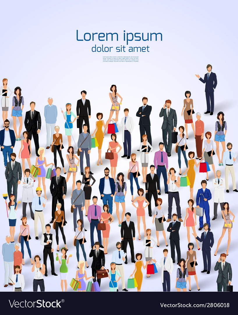 Group of people poster vector