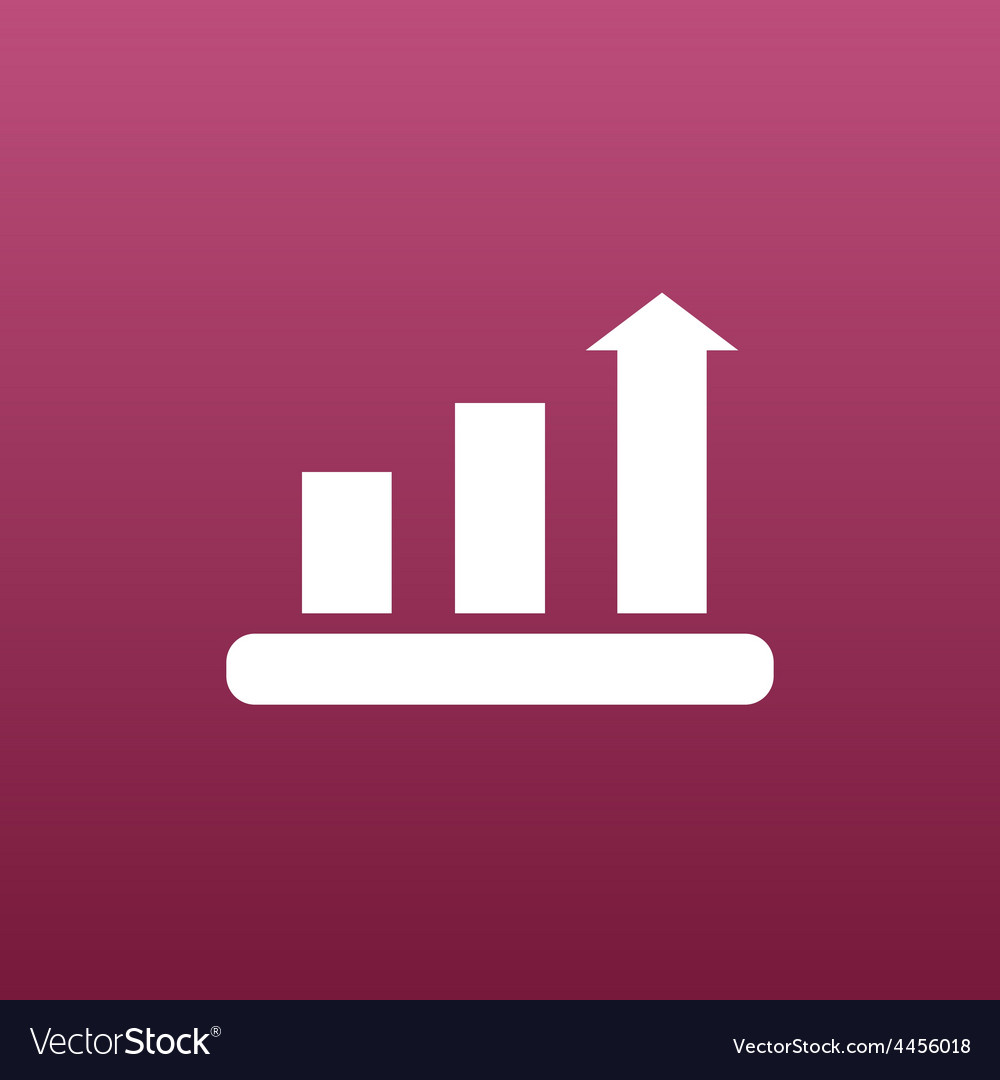 Infographic chart icon graph market business vector | Price: 1 Credit (USD $1)