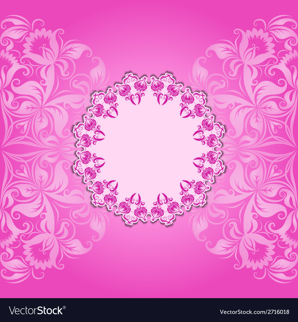 Invitation card with filigree pattern vector | Price: 1 Credit (USD $1)