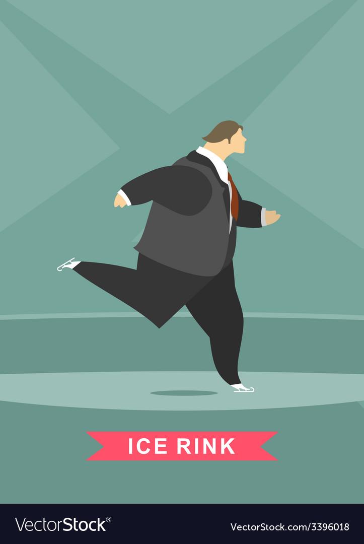 Man skates vector | Price: 1 Credit (USD $1)