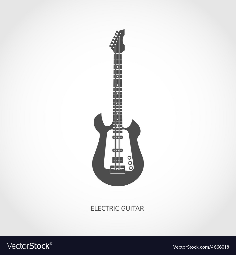Musical instrument guitar flat icon vector | Price: 1 Credit (USD $1)