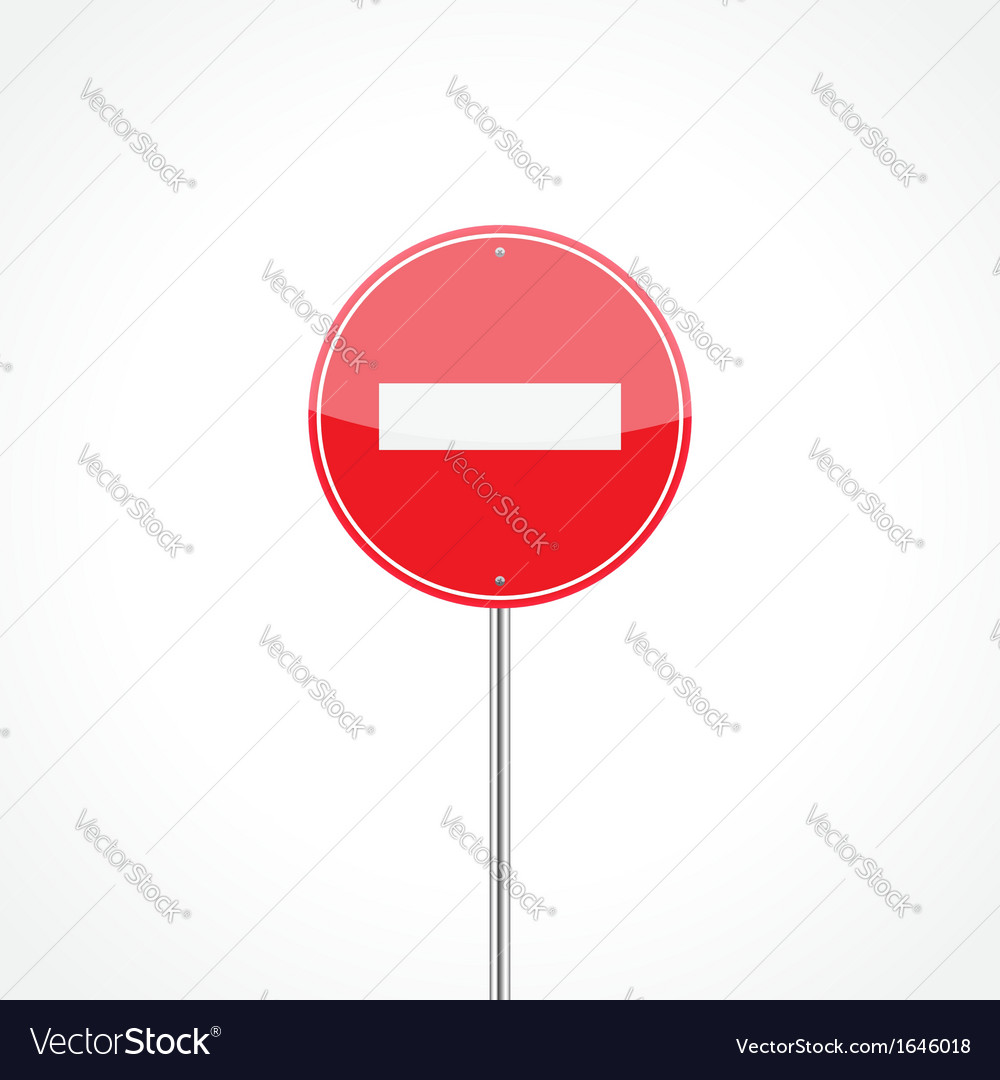 No entry traffic sign vector | Price: 1 Credit (USD $1)