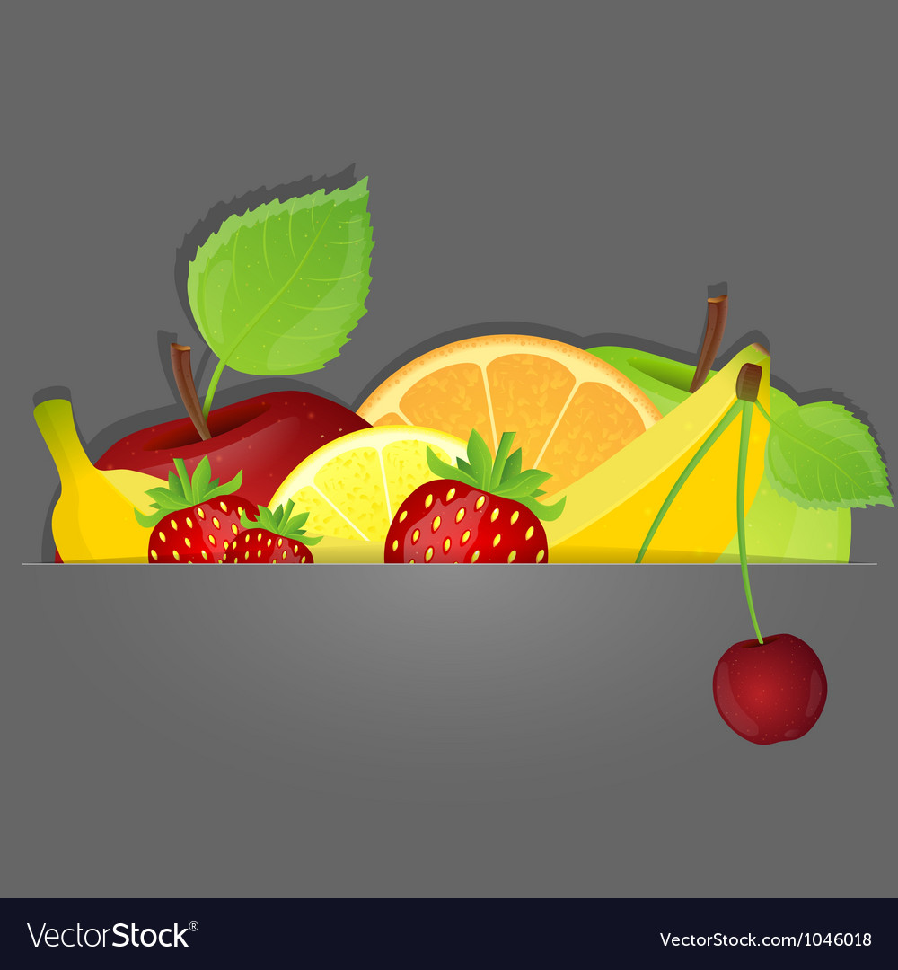 Set of fruits vector | Price: 3 Credit (USD $3)